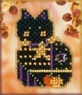 Haunted Kitty - Beaded Cross Stitch Kit