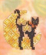 Moon Kitty - Beaded Cross Stitch Kit