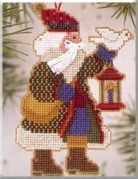 Dove Santa - Alpine Santas - Beaded Cross Stitch Kit