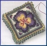 Pansy Petals - Beaded Cross Stitch Kit
