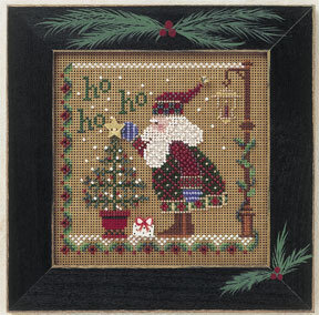 Ho Ho Ho Santa - Beaded Cross Stitch Kit