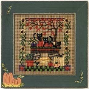 Scaredy Cats - Beaded Cross Stitch Kit
