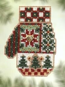 Patchwork Holiday - Beaded Cross Stitch Kit