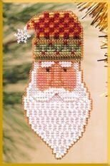 Kris Kringle - Beaded Cross Stitch Kit