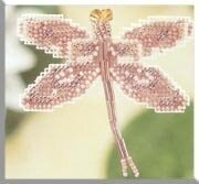 Rose Dragonfly - Beaded Cross Stitch Kit
