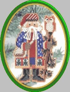 Juniper Branch Santa - Northwood Santas - Cross Stitch Kit