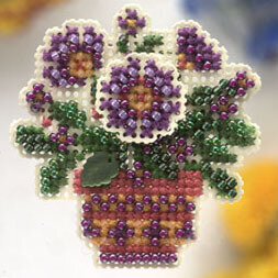Primrose Pot - Beaded Cross Stitch Kit