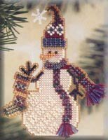 Stocking Snow Charmer - Beaded Cross Stitch Kit