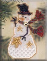 Star Snow Charmer - Beaded Cross Stitch Kit