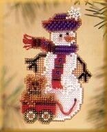 Teddy Snow Charmer - Beaded Cross Stitch Kit