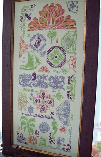 Quaker Gone Tropic - Cross Stitch Pattern
