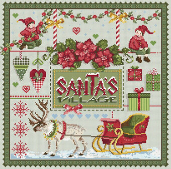 Santa's Village - Cross Stitch Pattern