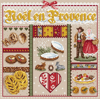 Noel en Provence (Christmas in Provence) - Cross Stitch