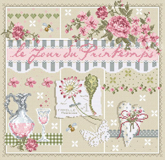 Le Jour du Printemps (Spring Day) - Cross Stitch Pattern