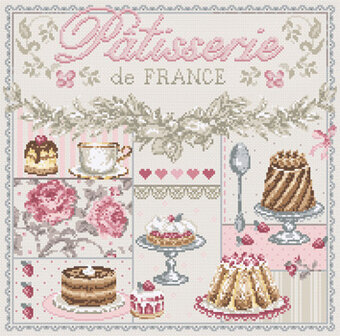 Patisserie de France (French Pastries) Cross Stitch Pattern