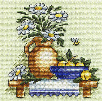 Chamomiles - Cross Stitch Kit