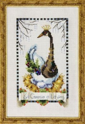 Six Geese a Laying - 12 Days of Christmas - Cross Stitch