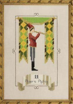 Eleven Pipers Piping - 12 Days of Christmas - Cross Stitch