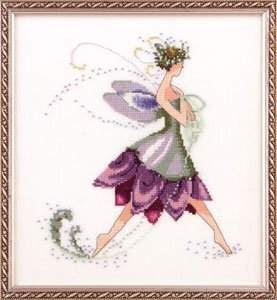 Water Lily Spring Garden Pixie - Cross Stitch Pattern