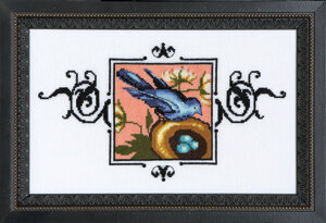 Blue Monarch Flycatcher - Cross Stitch Pattern
