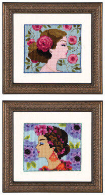 Bella Rose & Bella Hydrangea - Cross Stitch Pattern