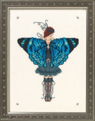 Miss Columbian Nymphalid - Cross Stitch Pattern