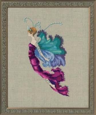 Red Cabbage Sprite - Autumn Pixies - Cross Stitch Pattern