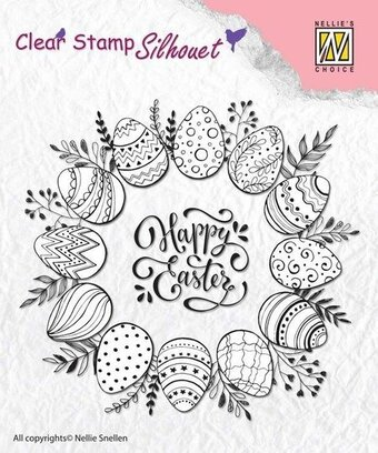 Silhouette Happy Easter - Clear Stamp