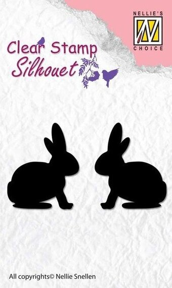Silhouette Hare - Clear Stamp