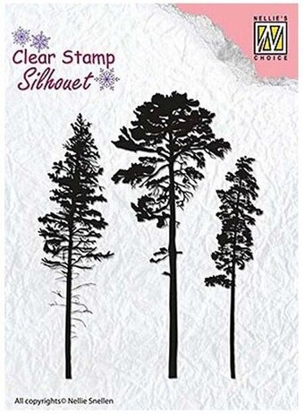 Christmas Pine Trees - Nellie's Choice Clear Stamp