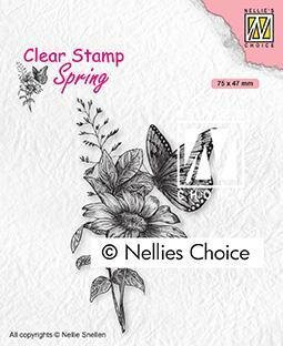 Spring Butterfly - Clear Stamp