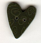 Small Green Nancy's Heart - Button