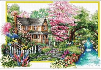 Spring Comes - Pre-Printed Cross Stitch Kit