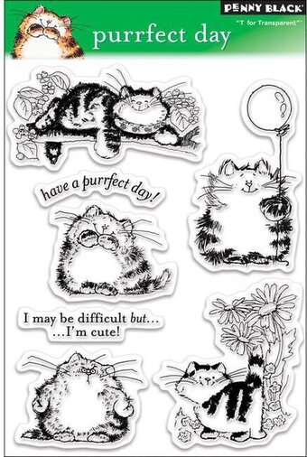 Purrfect Day - Clear Stamp