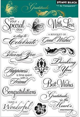 Gratitude (Sentiments) - Clear Stamps