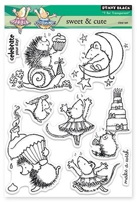 Sweet and Cute (Birthday) - Clear Stamp