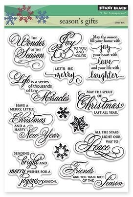 Season's Gift - Christmas Clear Stamp