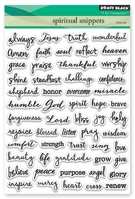 Spiritual Snippets - Christian Clear Stamp