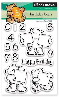 Birthday Bears - Clear Stamp