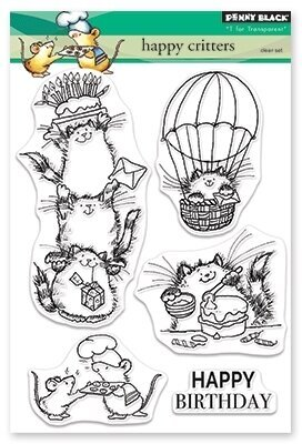 Happy Critters - Clear Stamp