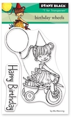 Birthday Wheels - Clear Stamp