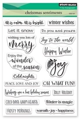 Christmas Sentiments - Christmas Clear Stamp
