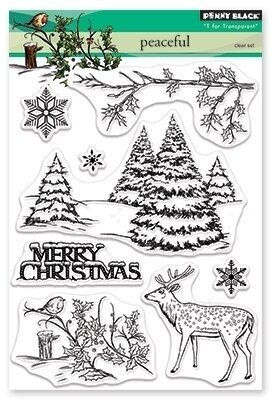 Peaceful - Christmas Clear Stamp