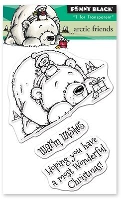Arctic Friends - Penny Black Christmas Clear Stamp