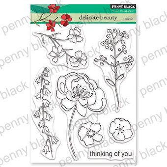 Delicate Beauty - Penny Black Clear Stamp