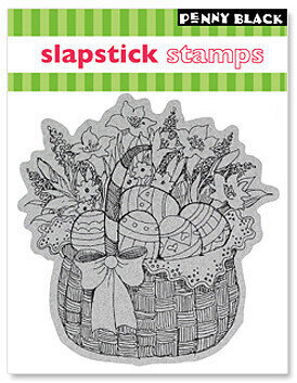 Easter Basket - Clear Rubber Stamp