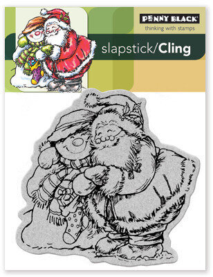 Holiday Hugs - Cling Rubber Stamp