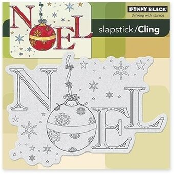 Ornamental Noel - Slapstick - Cling Rubber Stamp