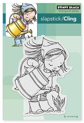 April - Slapstick - Cling Rubber Stamp