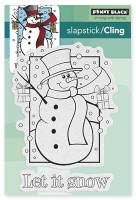 Frosty's Wish - Christmas Cling Rubber Stamp